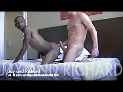 interracial Big Cock Flip fuck White Dad Black twink