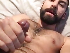 Arab Guy Self Cum Facial
