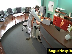 Real euro bent over and fucked by doctor