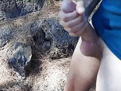 Trecking with my buddy and jerk off