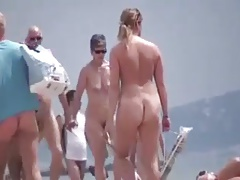 Walkers on Nude Beach