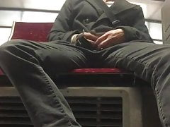 cock flashing in the Tram
