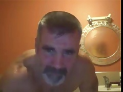 dad showers after working out