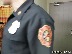 Fireman Billy Santoro Catches colleague Masturbating at the