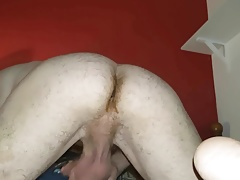Fuck my own ass with dildo and cum