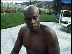 Big tits blonde banged outdoors by a big black cock