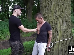 Hot Dom and Ricky banging hard outdoor