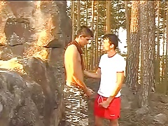 Gay Joggers Fuck In The Woods