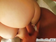 Ass Traffic Naughty brunettes get DP'd and drink up white