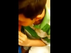 Teens Suck and Fuck in Public Toilet