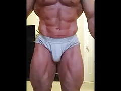 str8 bodybuilder flexing