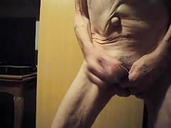 Wanking and cumming in my hand