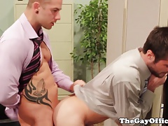 Office hunks analfucking during working hours