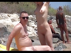 Beach Nudist couple